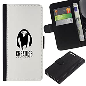 All Phone Most Case / Oferta Especial Cáscara Funda de cuero Monedero Cubierta de proteccion Caso / Wallet Case for Apple Iphone 6 PLUS 5.5 // Criatura ET