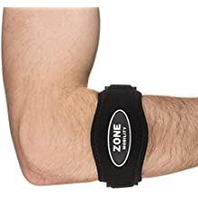 Zone Mobility Tennis Elbow Brace (2-Pack) — Neoprene Compression Supports Forearm, Reduces Strain & Provides Pain Relief for Athletes, Golfers, Fishing and Billiards – Adjustable Comfort