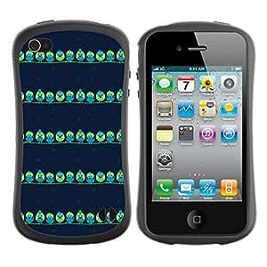 DesignCase Premium TPU / ABS Hybrid Back Case Cover Apple iPhone 4 / 4S ( cute bird )