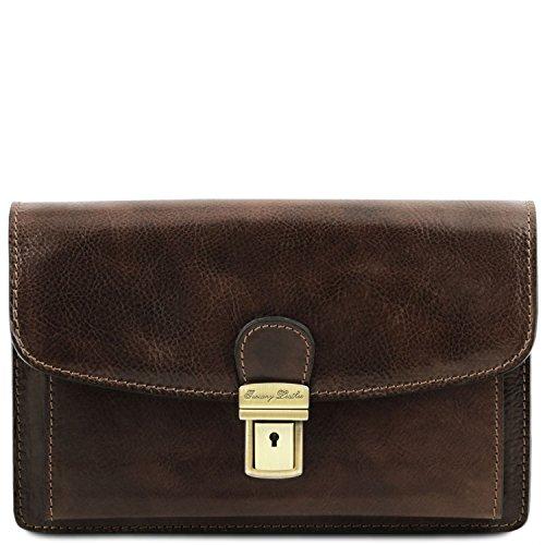 A Testa Esclusivo Moro In Di Mano Pelle Borsello Leather nero Tuscany Tl141444 Arthur vqWwaEIfF