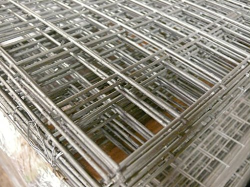 2 Pack Welded Wire Mesh Panels 2 4m x 1 2 (8ft x 4ft) Galvanised