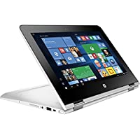 HP Pavilion X360 2-in-1 11.6 Touchscreen IPS High Performance Laptop, Quad Core Intel Pentium Processor, 4GB RAM, 500GB HDD, 802.11ac, Webcam, HDMI, B&O Play Audio, No DVD, Windows 10-Silver