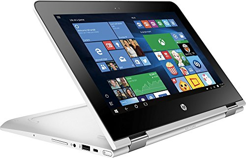 HP Pavilion X360 2-in-1 11.6' Touchscreen IPS High Performance Laptop, Quad Core Intel Pentium Processor, 4GB RAM, 500GB HDD, 802.11ac, Webcam, HDMI, B&O Play Audio, No DVD, Windows 10-Silver