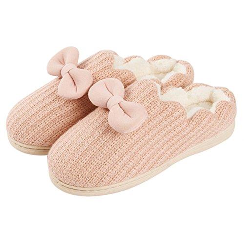 Interno Antiscivolo Impermeabili Pantofole Casa Calda Morbide Da pantofole Rosa Dww Scarpe xSgaw0Afq