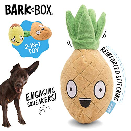 Barkbox Penny The Pineapple Dog Toy for Medium to Large Dogs, Plush, Bonus Free Toy Within a Toy