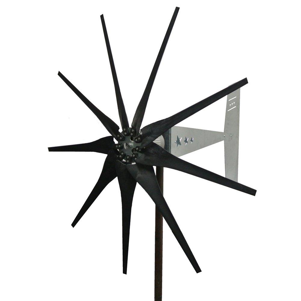 Missouri Wind and Solar 2000 Watt 9 Blade Missouri General Freedom II Wind Turbine (24V, Black)