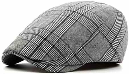 20b19790 Unisex Vintage Classic Plaid Newsboy-Cap British Cabbie-Hat for Men