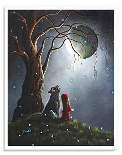 Little Red Riding Hood Art Prints, Riding Hood Artwork, Fantasy Art, Fairytale Art, Wall Art, Home Decor Ideas, Fine Art Prints, Erback, Original Art Designs, 8x10 Prints, Wolf Art (Fairytale Ideas)