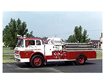 Beaver Dam Ford >> Amazon.com: 1961 Ford FMC John Bean Fire Truck Photo New ...