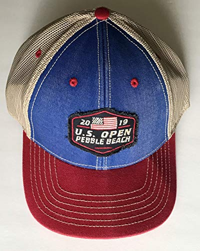 2019 U.S. Open golf trucker hat pebble beach blue red mesh back new pga