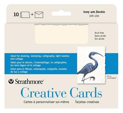 Strathmore STR 105 130 Ivory Deckle Card product image
