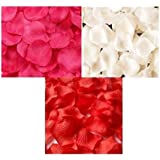 ポの屋 華やかな演出! フラワーシャワー バラ の 花びら 赤 ピンク 白 3色 900枚 セット / 結婚式 二次会 パーティー 等に