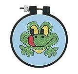 Dimensions Needlecrafts Stamped Cross Stitch, Friendly Frog