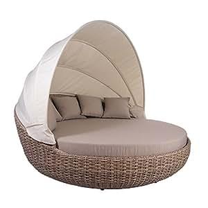 Tumbona Isla Atlantic White Pepper Lounge Muebles de Jardín Jardín Lounge SUNL ounger sol Isla