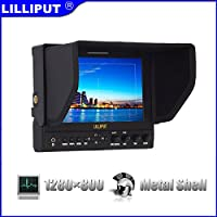 Lilliput 7 663/O HDMI input & output 1280800 IPS Field Monitor for DSLR & Full HD Camcorder with LP-E6 Battery and charger
