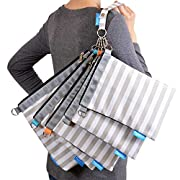 Gadikat Diaper Bag Organizer Pouches, 4 Mesh inserts and 1 Wet bag, Set of 5 Versatile Files