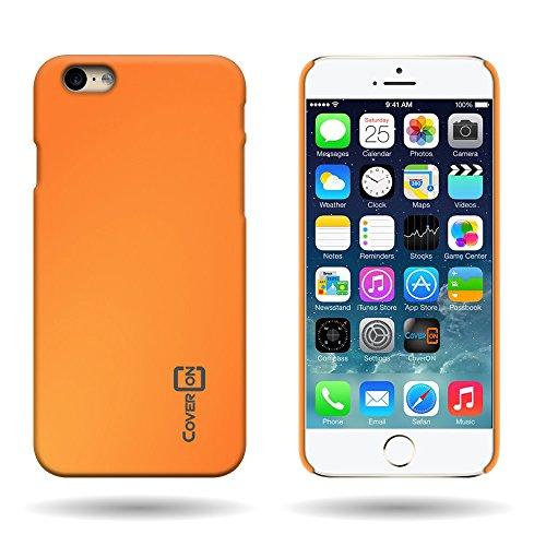 CoverON Slender Fit Series Fit iPhone 6 Plus Phone Case, (Neon Orange) Slim Protective Phone Cover for Apple iPhone 6 Plus (5.5 - Plus Neon 6 Orange Case Iphone