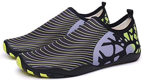Beach Surf Womens Shoes With Mens Black Swim Holes Dive Barefoot Lanbaosi Green Water Drainage wpXWdqw0