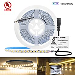 HitLights Warm White LED Strip Lights, U...