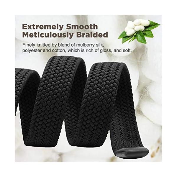 Elastic Braided Belt, Fairwin Enduring Stretch Woven Belt for Men/Women/Junior