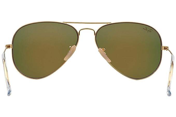 Ray-Ban Aviator Large Metal, Gafas de sol para Hombre, Dorado (Orange Flash), 62