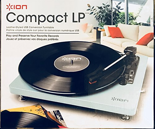 ION Compact LP Leather Style USB Conversion Turntable Compact Turntable