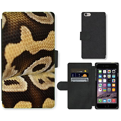 """Just Phone Cases PU Leather Flip Custodia Protettiva Case Cover per // M00129053 Échelle Reptile Terrarium animale // Apple iPhone 6 PLUS 5.5"""""""