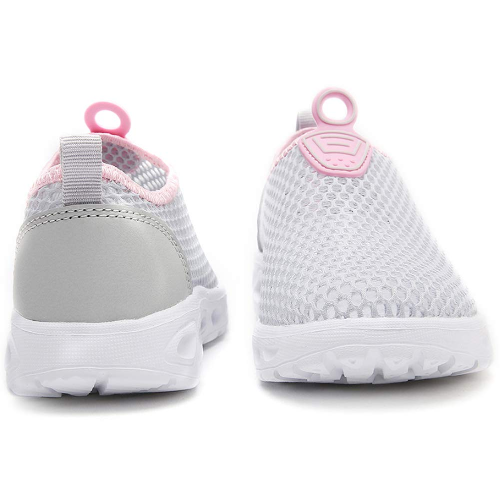 S-BAO Boys Girls Breathable Mesh Water Shoes Lightweight Slip-on Sneakers for Walking Sailing Beach SB5045