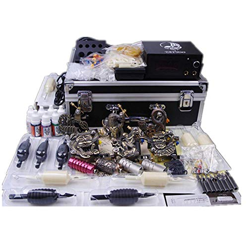 Tattoo Machines Starter Tattoo Kit 3 Pro Tattoo Gun Top CE Power Supply Rotary Machine Gun Power Supply Disposable Needles for Tattoo Artist
