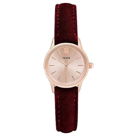 Cluse Reloj Analógico para Mujer de Cuarzo con Correa en Cuero CL50018: Amazon.es: Relojes