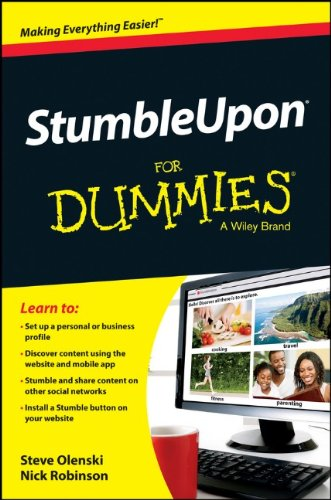 StumbleUpon For Dummies by Nick Robinson , Steve Olenski, Publisher : For Dummies