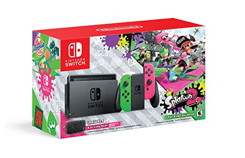 Nintendo Switch Hardware with Splatoon 2 + Neon Green/Neon Pink Joy-Cons