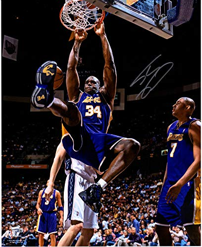 Shaquille O'Neal Los Angeles Lakers Autographed 16'' x 20'' Monster Dunk Photograph - Fanatics Authentic Certified
