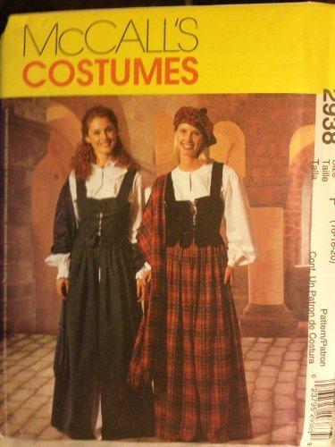 McCall Costume Pattern #2938 Women's Size F (16-18-20)