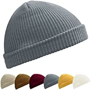Kordear Trawler Beanie Solid Color Fisherman Hat Daily Wearing Roll up Knitted Hat Fashion Fisherman Beanie H