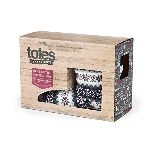 Totes Herren grau Memory Foam Slipper Boots in einer Geschenkbox