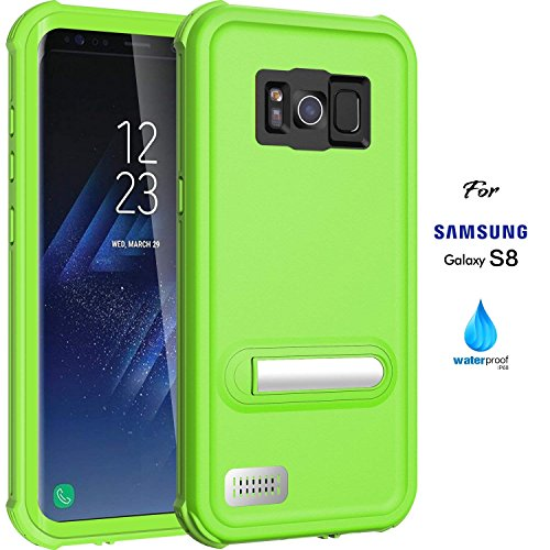 ASAKUKI Galaxy S8 Waterproof Case, IP68 Certified Case, Full Body Protective, Shockproof, Scratch-Proof, Dustproof Case with Built-in Screen Protector for Samsung Galaxy S8 - Green