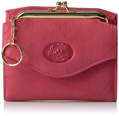 Buxton Heiress French Purse Wallet, Coral