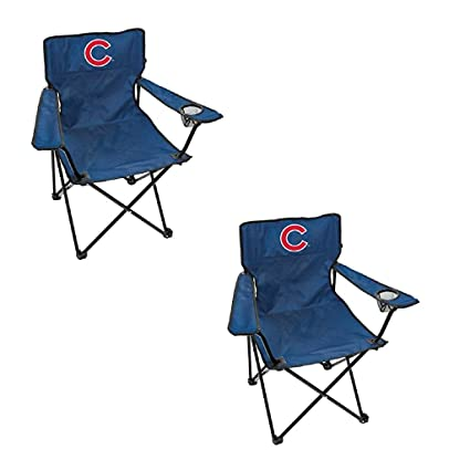 Amazon.com: MLB Chicago Cubs banda ancha Quad silla (2 ...