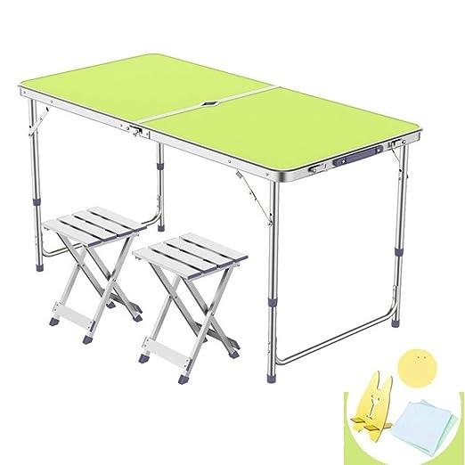 TXOZ Mesa Plegable Muebles Plegables con Taburete De Aluminio ...