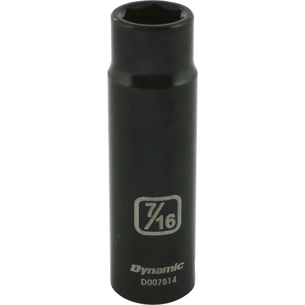 Dynamic Tools 3//8-Inch Drive 6 Point SAE 1//2-Inch Deep Length Impact Socket