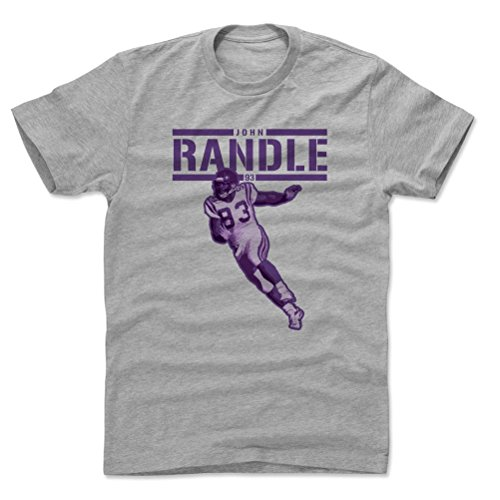 - 500 LEVEL John Randle Cotton Shirt XXX-Large Heather Gray - Vintage Minnesota Football Men's Apparel - John Randle Play P