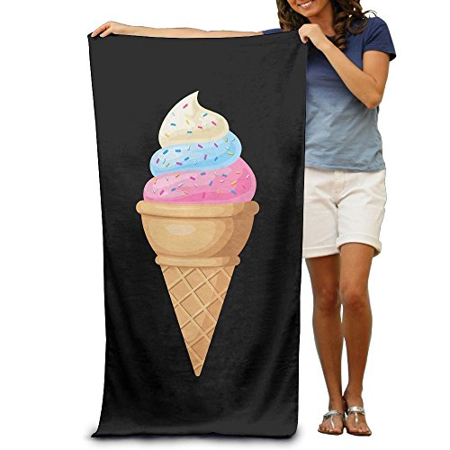 Super Absorbent Beach Towel Ice Cream Cone Polyester