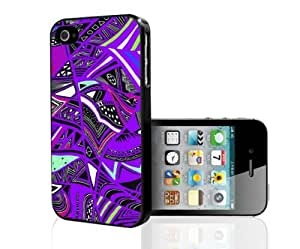Tribal Print Pattern Purple Colorful Hard Snap on Phone Case (iPhone 4/4s)
