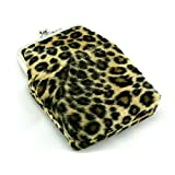 Skyway Leopard Faux Fur Cigarette Pack Holder Case with Lighter Pouch