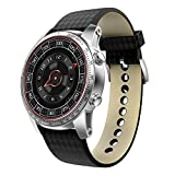 Smart Watch 3G Android Bluetooth Smartwatch with Heart Rate Pedometer Activity Tracker for Android and IOS Phones WIFI Supported GPS Navigation Smart Watches (Silver and Black)