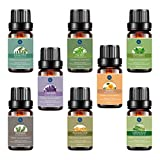 Essential Oils Set,Aromatherapy 8 Essential Oils -Lavender,Tea Tree,Eucalyptus,Peppermint,Lemongrass,Frankicese,Orange,Rosemary,Therapeutic Grade
