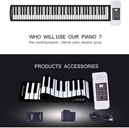 88-Key Hot-Verkoop Van Nieuwe Hand-Rolled Piano Portable Professional Verdikte Keyboard Multi-Function Hand-Rolled Electric Piano Adult Electric Piano Beginner