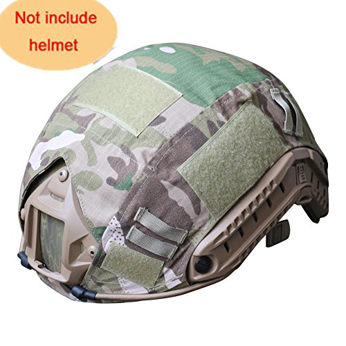 H World Shopping Outdoor Airsoft Paintball Tactical Military Gear Combat Fast Helmet Cover Multicam MC by H World Shopping