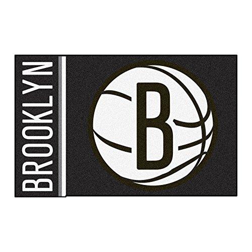 (FANMATS 17919 NBA New Jersey Nets Uniform Inspired Starter Rug)